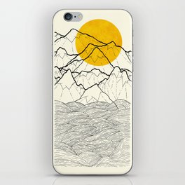 The cliff waves iPhone Skin