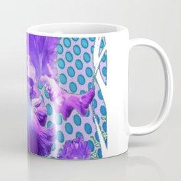 MODERNISTIC LILAC PURPLE IRIS BABY BLUE ART Coffee Mug