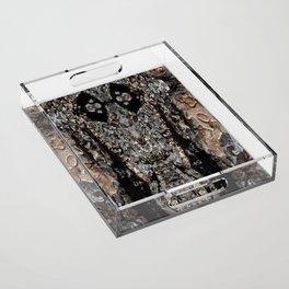 Pine Tree Bark Pattern Acrylic Tray