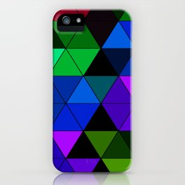 Colorful Triangle Mosaic iPhone Case