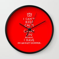 posters Wall Clocks featuring i broke an promise to myself to never make one of these stupid posters by gemma correll