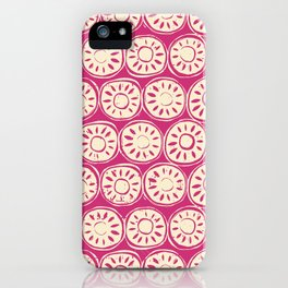 flower block ivory pink iPhone Case