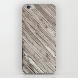 Herringbone Weathered Wood Texture iPhone Skin