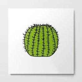 Cactus Ball Metal Print