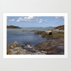 Harris Coastline Art Print