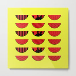 Abstract Watermelon Pattern Metal Print