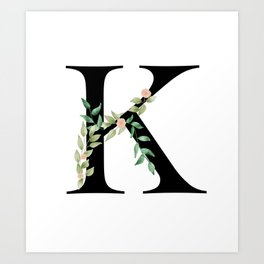 Botanical K Art Print