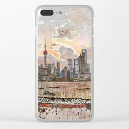 Shanghai Pudong Clear iPhone Case