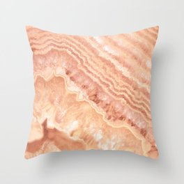 Champagne onyx marble Throw Pillow