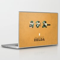 the legend of zelda Laptop & iPad Skins featuring The Legend of Zelda by Brandon Riesgo