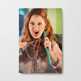 Knitting Gone Crazy Metal Print