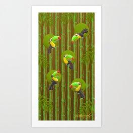Toucan Party! Art Print