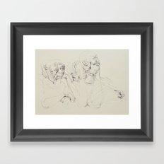 Dozing Off Framed Art Print