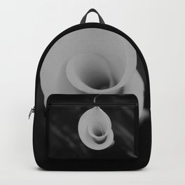 Calla lily flower unfolding Backpack