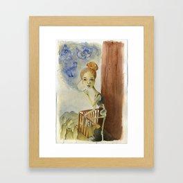 Smoking Blows Framed Art Print