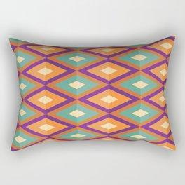 Pattern orange green Rectangular Pillow