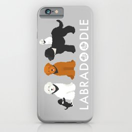 Labradoodle family iPhone Case
