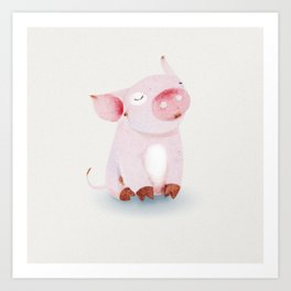 Cute Animals No.1 Pride Pig Art Print