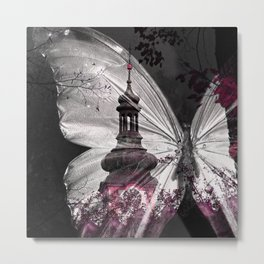 T 114 Gothic Butterfly Metal Print