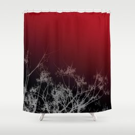 Tree Top-Red Shower Curtain