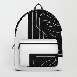 Abstract Figure - Black and White Square 2 Backpack
