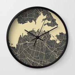 Auckland Map Wall Clock