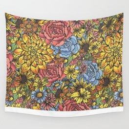Flowers Flowers Flowers Wall Tapestry