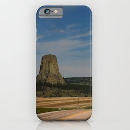 Road To Devils Tower iPhone Case