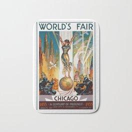Vintage World's Fair Chicago IL 1933 Bath Mat