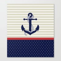 navy Canvas Prints featuring Navy by Vickn