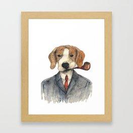 Monsieur Beagle Framed Art Print