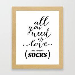 Awesome Socks Framed Art Print