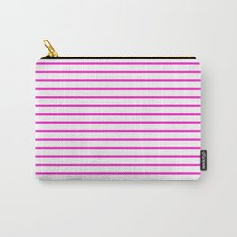 Horizontal Lines (Hot Magenta/White) Carry-All Pouch