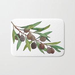 Olive leaf Bath Mat