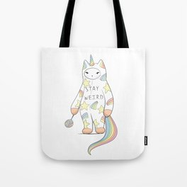 Stay Weird! With Love From Unicorn Cat Tote Bag