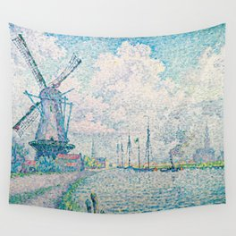 Paul Signac - Canal of Overschie Wall Tapestry
