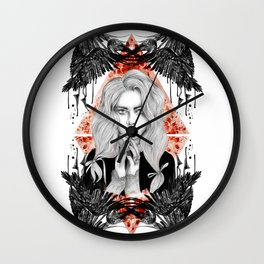Russian Dark Girl Wall Clock