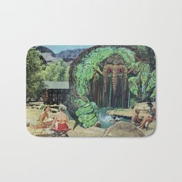 All Kids Out of the Pool - Vintage Collage Bath Mat