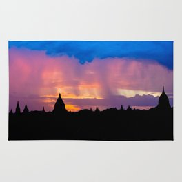 Sunset in Bagan, Myanmar Rug
