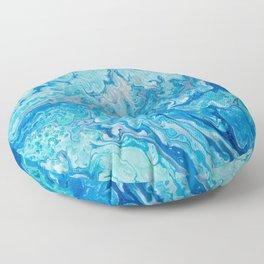 Blue Waves Floor Pillow