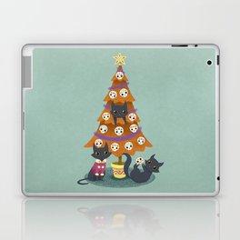 Meowy christmas sugar skulls Laptop & iPad Skin
