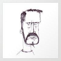 grumpy Art Prints featuring Grumpy by yekoba