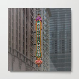 Oriental No More Chicago Theatre Blade Marquee The Loop Downtown Neon Metal Print