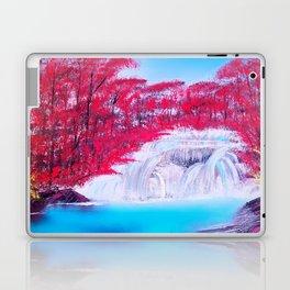 Crimson Cascade Laptop & iPad Skin