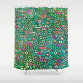 dp065-1 floral pattern Shower Curtain