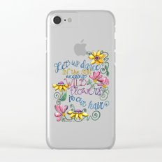 Let Us Dance Two Clear iPhone Case
