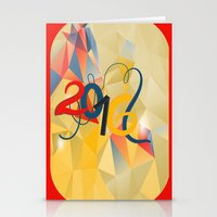 new year Stationery Cards featuring new year by luiza13