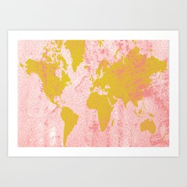 COME WITH ME AROUND THE WORLD Art Print