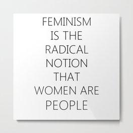 Feminism | Sexism Feminine Gender roles girls Gift Metal Print