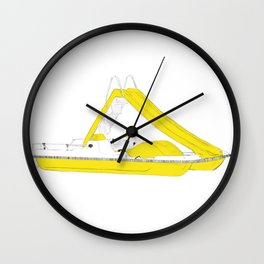 Yellow pedalo Wall Clock